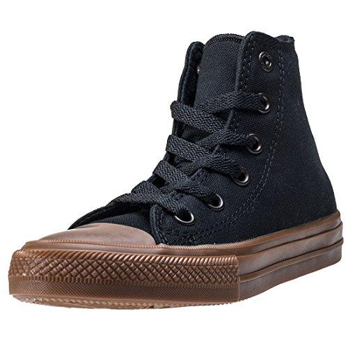 Star Gum Converse Black All Chuck Textile Taylor Junior Black II Trainers Hi Gum WRRBnO