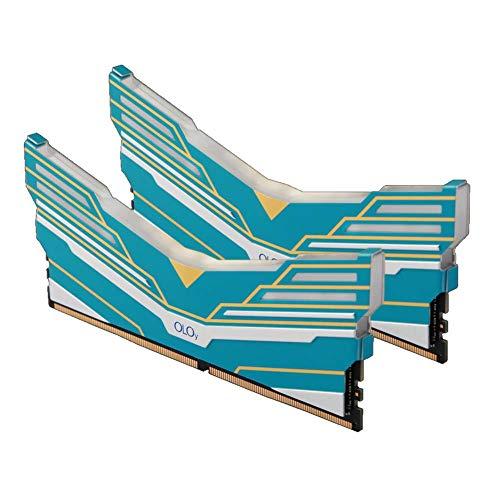 OLOy DDR4 RAM 32GB (2x16GB) Warhawk Aura Sync RGB 2666 MHz CL19 1.2V 288-Pin Desktop Gaming UDIMM (MD4U162619BDDA)