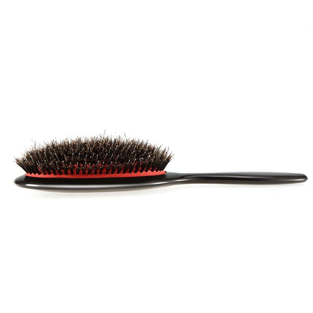 Shager – Cepillo de pelo de cerdas de jabalí Natural nailon ABS neumático oval antiestático masaje cabelludo peine para el tratamiento Hair Brush ...