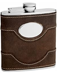 Acquisition 6oz Brown Leather Hip Flask with Free Personalization reviews