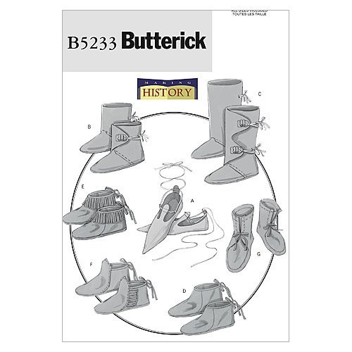 BUTTERICK PATTERNS B5233 Historical - Medieval Moccasins