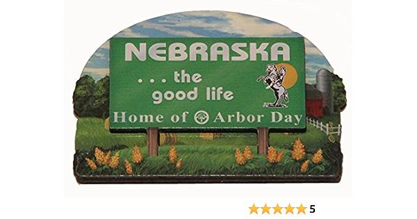 by JustStated on etsy Magnet of Nebraska State of Nebraska Magnet