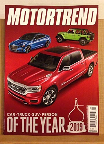 Magazine Motor Trend - Motor Trend Magazine January 2019 (RED) Car Truck Suv Person of the Year)