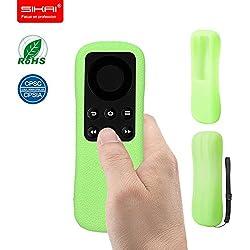 SIKAI Patent New Amazon Fire TV Stick Remote case With Slip-Grip & Secure for Amazon Fire TV Stick Remote Ergonomic design Dustproof Silicone case Luminous Green