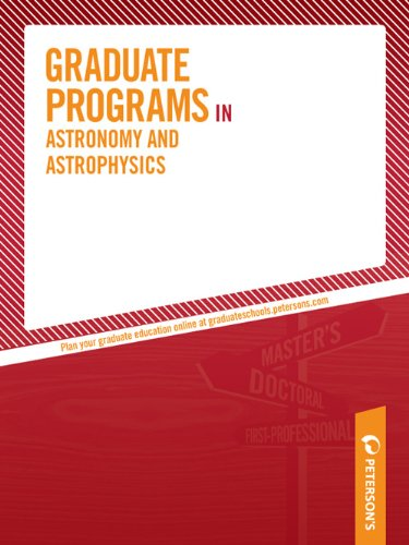 Graduate Programs in Astronomy and Astrophysics