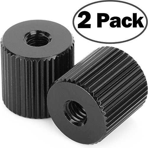2Pack ChromLives Tripod Nut Barrel Nut Connection Nut with 1/4
