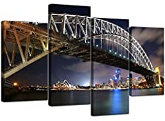 A Large Modern Contemporary Set of 4 Canvas Pictures  - Direct to you from WALLFILLERS, the UK&apos's most recognised brand for Large Canvas Wall Art Prints  - Artwork is printed at high resolution with Fade Resistant inks, so that your c...