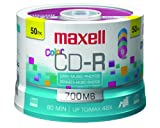 Maxell 700 MB Color 50pk CD-Recordable Discs 50-Pack