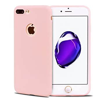 Funda iPhone 7 Plus, Carcasa iPhone 8 Plus, Suave Opaco gel ...