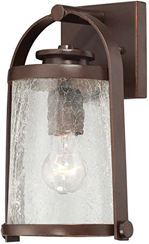 (Minka Lavery Outdoor Wall Light 72331-291 Travessa Aluminum Exterior Wall Lantern, 100 Watt, Bronze)