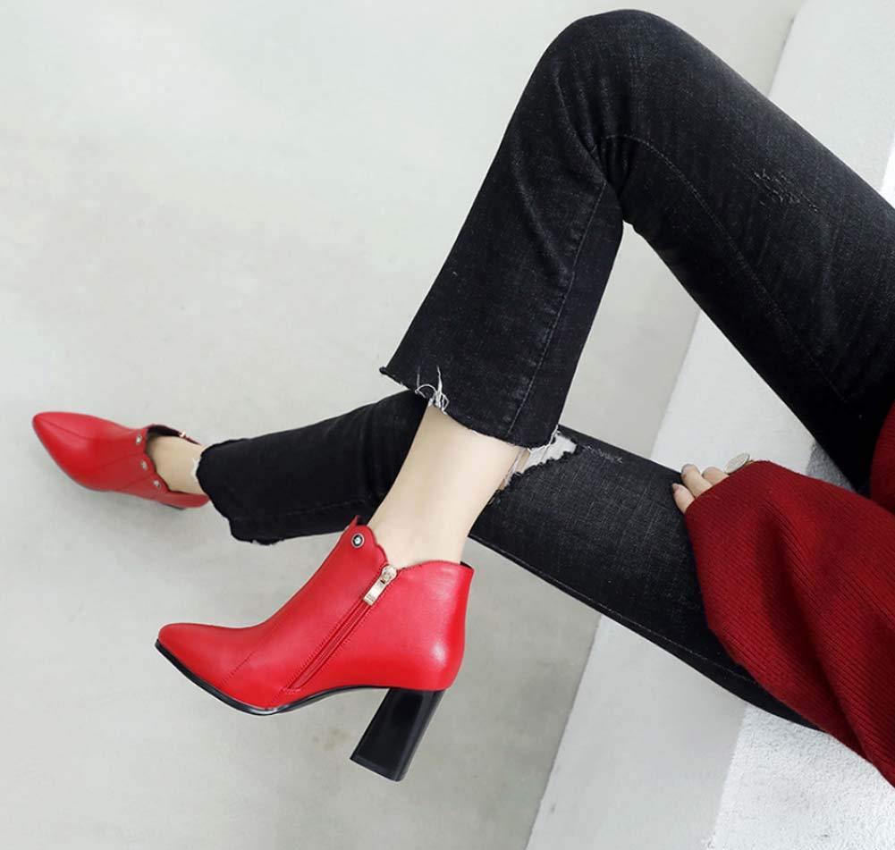 QINGMM Frauen Rot Rot Rot Hochzeit Stiefel 2018 Herbst Winter Spitzen High-Heel Ankle Stiefel 1ffaac