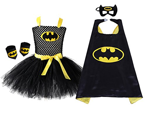 AQTOPS Batgirl Costumes Girls ()
