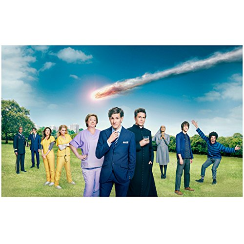 You, Me, and the Apocalypse Cast with Rob Lowe, Pauline Quirke, Jenna Fisher, Megan Mullally, with Matthew Baynton Center 8 x 10 inch - Lloyd 10 Center