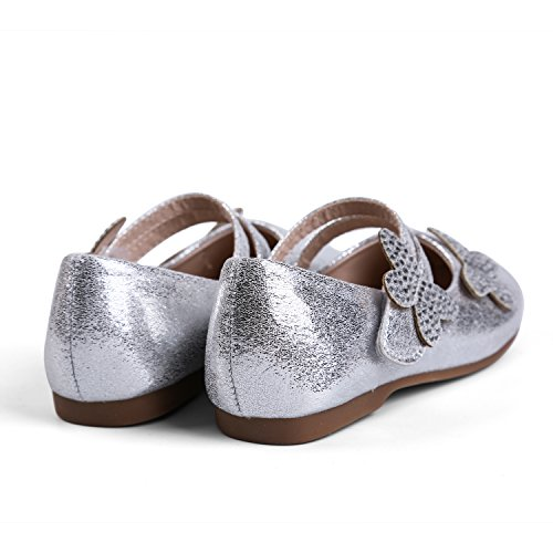 EKM701 KM EIGHT Shoes Ballet Toddler Flats Janes silver Girl's Ekm7001 Dress Mary amp; H4qwdnqp5