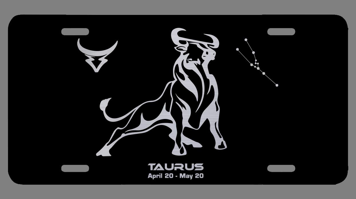 OGO Sagittarius Zodiac Laser Etched Metal License Plate Gift Astrology Constellation Horoscope Astrological Aries Taurus Gemini Cancer Leo Virgo Libra Scorpio Sagittarius Capricorn Aquarius Pisces Gifts