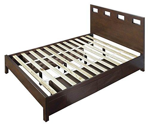Modus Furniture RV26D6 Riva Platform Storage Bed, California King, Chocolate Brown