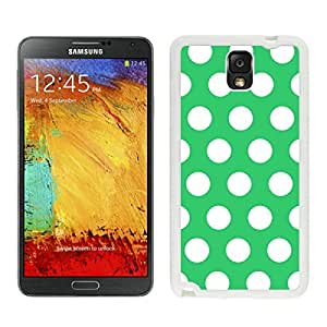 Coolest Samsung Galaxy Note 3 Case Polka Dot Green and White Soft TPU White Phone Cover Speck protector