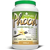PlantFusion Phood Plant Based Meal Replacement Protein Powder, Vanilla, 31.8 oz Tub, 20 Servings, 1 Count, Gluten Free, Vegan, Non-GMO