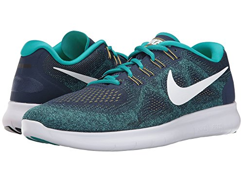 Zapatillas Nike Hombres Free Rn 2017 (10 D (m) Us, Binary Blue / White / Turbo Green)