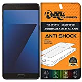 Samsung Galaxy C7 Pro Roxel {Buy 1 GET 1 Free} Unbreakable Anti Shock Series Tempered Glass Screen Protector for Samsung Galaxy C7 Pro (Navy Blue, 64 GB)