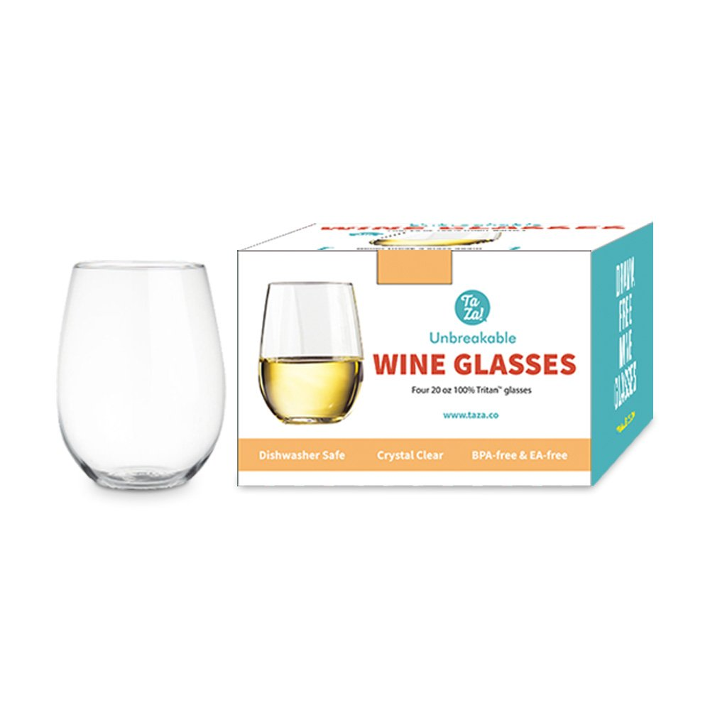 Unbreakable Stemless Wine Glasses Shatterproof Tritan Plastic Wine Juice Glasses
