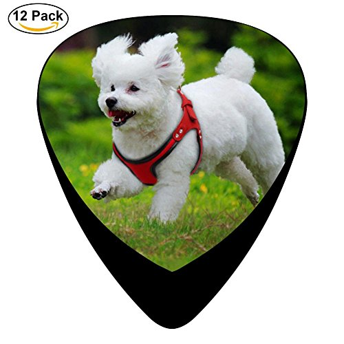 Guitar Picks Celluloid Running Happy Pug Dog 12 Pack Shape For Acoustic Guitar Mandolin Electric Guitar And Bass -