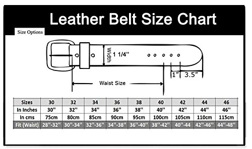 Men's Genuine Leather Dress Belt with Premium Quality - Classic & Fashion Design (Black, 34) by KM Legend (Image #4)