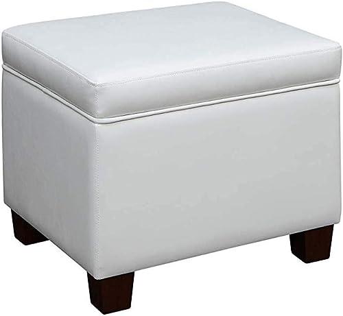 Convenience Concepts Madison Storage Ottoman, White