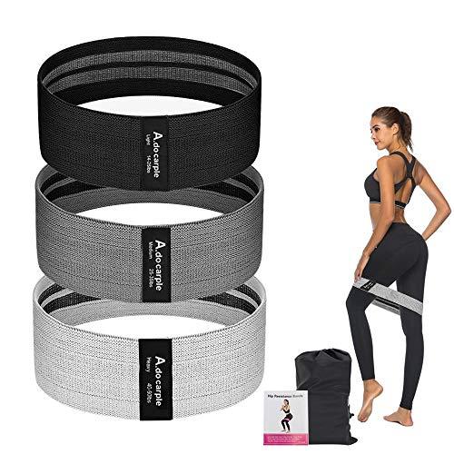 Weerstandsbanden, 3 stuks, antislip, trainingsbanden voor billen, billen en benen, beenoefening, buiteband voor dames en…