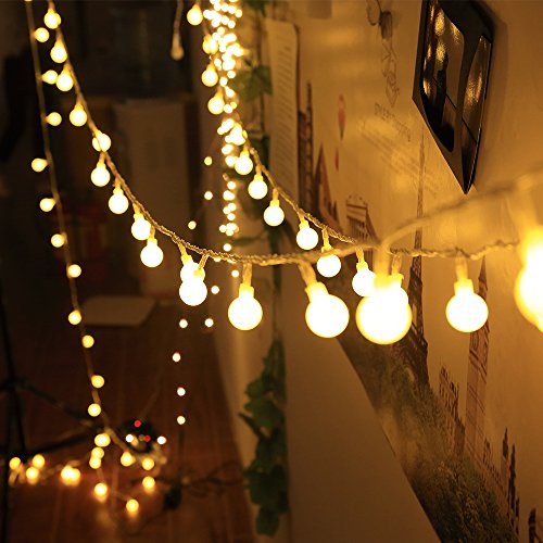 LED Indoor String Lights 37.7 Feet Warm White Globe for Patio ...