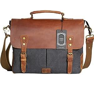 Amazon.com: Wowbox Messenger Satchel bag for men and women,Vintage ...