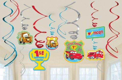 Cars 1st Birthday Swirl Decorations -