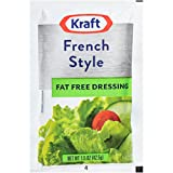 Kraft French Salad Dressing Fat Free (1.5 oz Packets, Pack of 60)