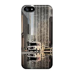 Premium Iphone 5/5s Case - Protective Skin - High Quality For Chicago Reflected In A Puddle
