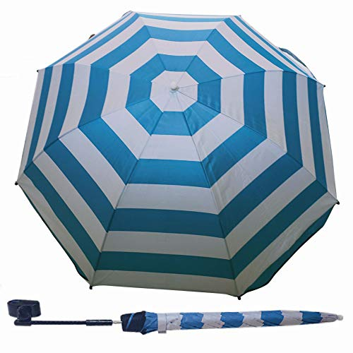 Fedom Adjustable Umbrella with 360 Degree Swivel and Universal Clamp,Great for Beach Chairs, Bleachers, Strollers, Wagons, Wheel Chairs or Golf Carts
