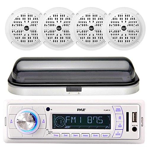 New Marine Yacht Boat MP3 USB AUX Radio 4 x 6.5