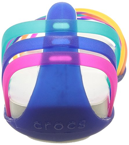 multi Mujer Crocs Women Huarache Para ceruleanblue Sandalias Flat Multicolor AA0pXr