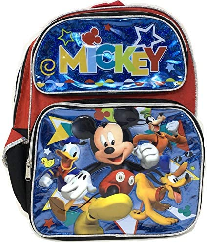 """Disney Mickey Mouse 16\"""" Large Backpack- 16180"""
