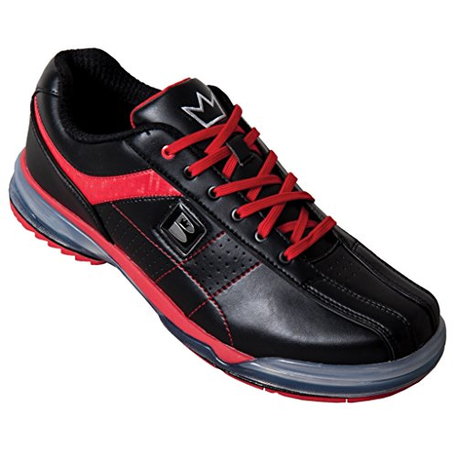 Brunswick Mens TPU-X Performance Bowling Shoes RH Wide- Black/Red (10 E US, Black/Red) by Brunswick