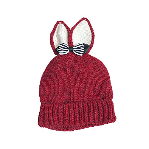 Captain Hook Costume Pattern (Allywit Knitted Butterfly Rabbit Ears Baby Toddler Winter Warm Hat Knitted Cap Kids (Red))