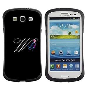 """Hypernova Slim Fit Dual Barniz Protector Caso Case Funda Para SAMSUNG Galaxy S3 III / i9300 / i747 [Negro Iniciales de la letra de la caligrafía del texto""""]"""