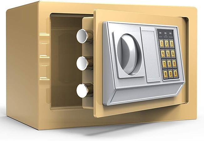 Caja Fuerte Contraseña de Seguridad Mesilla de Noche de Pared Home Box Pequeño contraseña LITING (Color : Gold): Amazon.es: Hogar