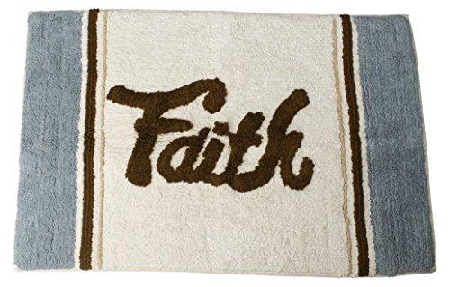 SKL Home by Saturday Knight Ltd. Faith Rug Bath, Blue