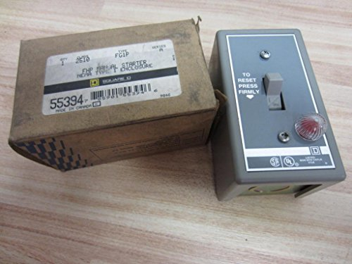 1 Pole, 16 Amp, 1 Hp at 115 VAC, 1 Hp at 230 VAC, 1 Hp at 277 VAC, Enclosed Toggle Manual Motor Starter ()