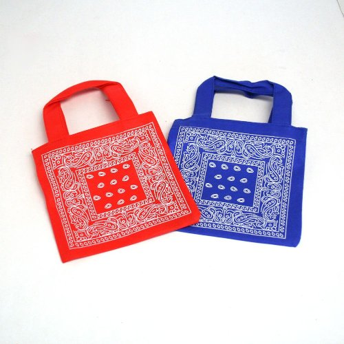 Bandana Print Tote Bags : package of 12 For Sale