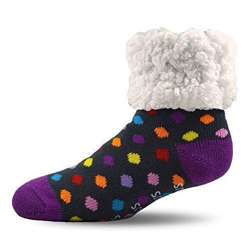 Pudus Unisex Classic Slipper Socks Kids One Size Multicolored