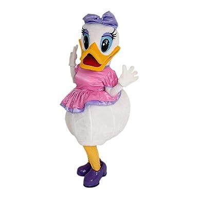Amazon.com: Daisy Duck Mascot fiesta disfraz tamaño adulto ...