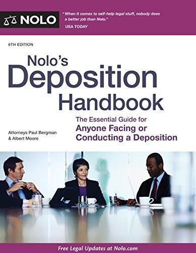 Nolo's Deposition Handbook by Paul Bergman JD (2014-08-18)