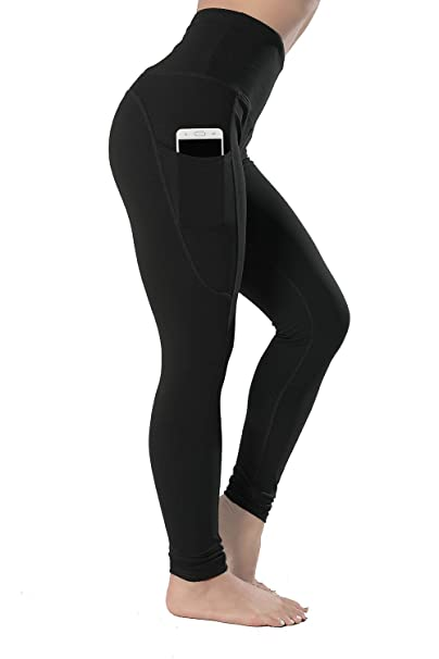 40a1ce2cf64845 High Waisted Leggings with Pockets - Workout Leggings for Women Stretch  Power Flex Yoga Pants -