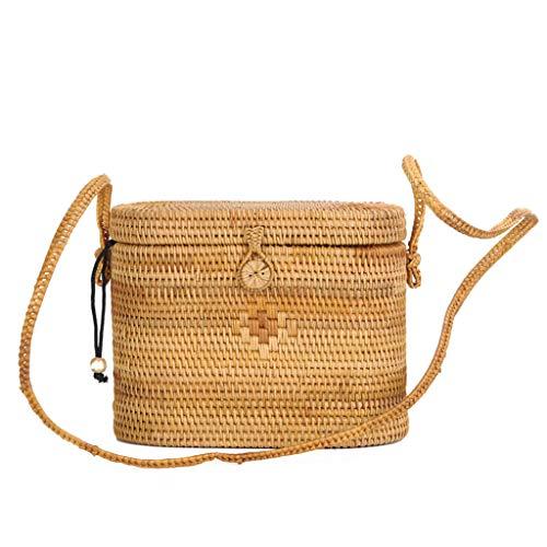 Women's Bag, Rattan Bag - Medicine Box Style - Cosmetic Crossbody Bag - Travel Beach Bag - Hand-Woven Bag by BHM (Image #5)